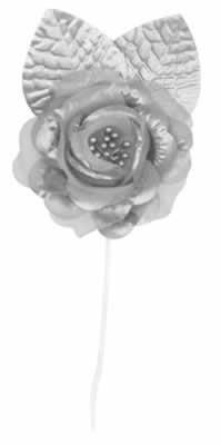 Elite Collection Rose Tie-Backs (silver)    (4/Pkg) - 1