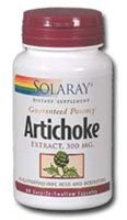 Solaray - Artichoke Extract, 300 mg, 60 capsules