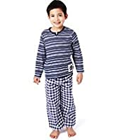 Autograph Pure Cotton Stripe & Checked Pyjamas
