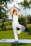 Yoga Bekleidung Kleidung Hose Umschlaghose Gre L mit Om-Symbol - aus kontro...
