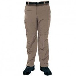 Mens Regatta Geo Anti Mosquito Zip Off Trousers -- Convertible Short / Long Trousers - Pine Bark (30 inch waist)