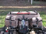 SAWTOOTH MOUNTAIN FRONT RACK ALL TERRAIN VEHICLE (ATV) CARGO BAGS - KHAKI