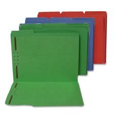 Folders,w/ 2 Fasteners,Pos1 and 3,1/3 Tabs,Letter,50/BX,GN, Sold as 1 Box, 50 Each per Box