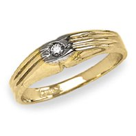 14k Yellow Gold – Cubic Zirconia – Baby/Children's Ring
