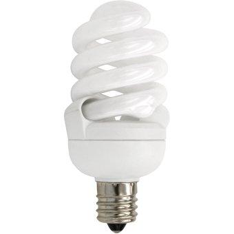 TCP 4T213C41K CFL SpringLamp - 60 Watt Equivalent (only 13W used) Cool White (4100K) Candelabra Base Spiral Light Bulb