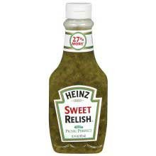 Heinz Sweet Relish 12 7 Ounce Squeeze Bottles Pack of 12