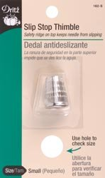 Dritz Slip Stop Thimble Small 162-S; 6 Items/Order