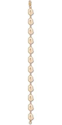 Ohio State Buckeyes Block O 3 8 8 Bracelet -14KT Gold Jewelry by Logo Art