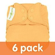 Bumgenius Elemental Organic Cloth Diapers 6 Pack All In One Snaps Neutral Colors front-1074561