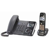 Panasonic  DECT 6.0 2-Line Black Corded Cordless Telephone (KX-TG9391T)