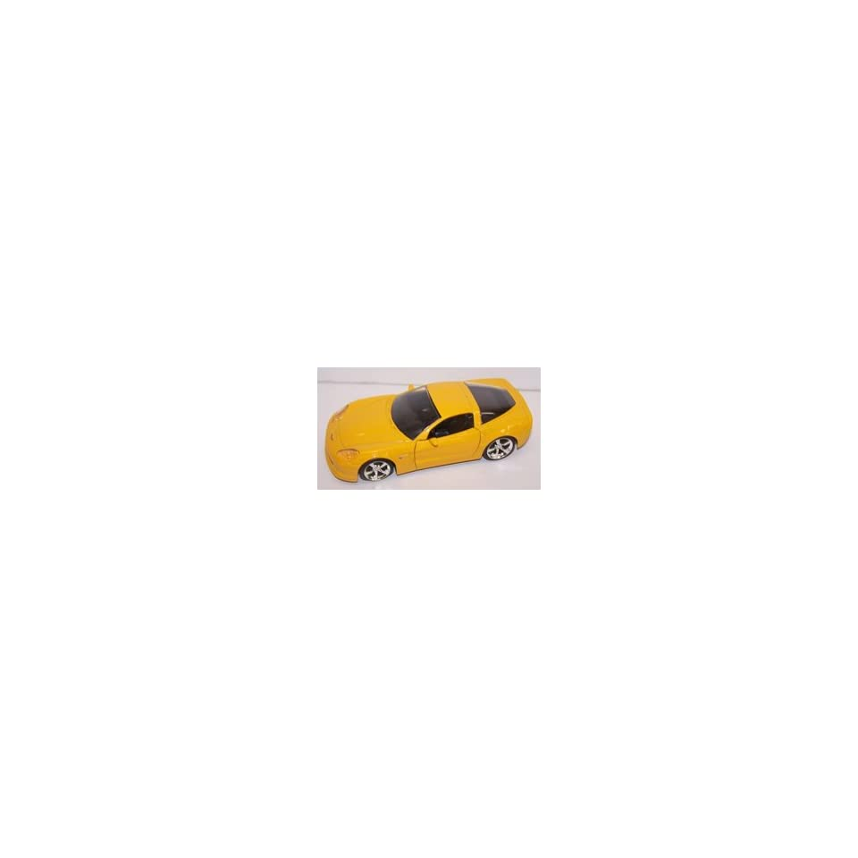 Jada Toys 1/32 Scale Diecast 2006 Chevy Corvette Z06 in Color Yellow