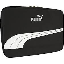 Puma Form Stripe Canvas Laptop Sleeve - Black / White