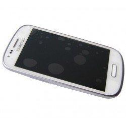 Ecran LCD avec ecran vitre tactile Samsung GT-i8200 Galaxy S3 mini Value Edition blanc