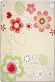 "Joy Carpets Kid Essentials Infants & Toddlers Pretty Posies Rug, Multicolored, 10'9"" x 13'2"""