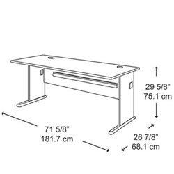 72 Inch Desk - Bush Office Furniture - WC84872