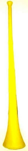 "One - 29"" Yellow Collapsible Stadium Horn - 1"