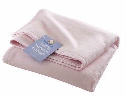Hippy Chick Pale Pink Baby Blanket (Pram size) (Pram size: 75cm x 100cm)