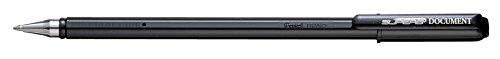 Pentel BK77MDK Superb Penna a Sfera Document, Nero, Confezione da 12