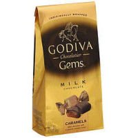 Godiva Wrapped Milk Chocolate Caramels, 3.5 Ounce