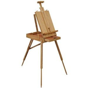 FRENCH SKETCH BOX FULL SIZE PRO Edition Metal Drawer EASEL w//l PALETTE NEW