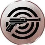 Pokal / Medaille Emblem, Motiv Pistole, Durchmesser 50 mm, bronze