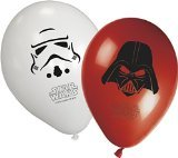 Unqiue Party 11-Inch Heroes and Villains Star Wars Balloons (Pack of 8)