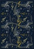 "Joy Carpets Kid Essentials Music & Special Needs Virtuoso Rug, Navy, 5'4"" x 7'8"""