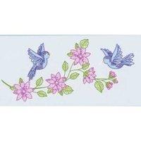 Jack Dempsey Stamped White Pillowcase Doll Kit-Birds