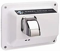 Excel Dryer R76-IW Cast Cover Series Hands Off Automatic Sensor Recessed Mounted Hand Dryer - White Epoxy
