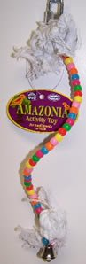 Vo-Toys Amazonia Small Plastic Bendable Beaded Perch Bird Toy