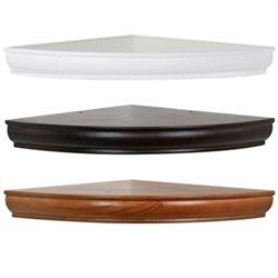 18 in radius floating corner shelf in white. Black Bedroom Furniture Sets. Home Design Ideas