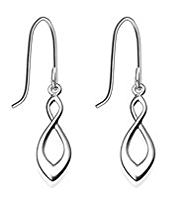 M&S Collection Finest Sterling Silver Twisted Drop Earrings