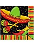 Unique Happy Fiesta Stripes Luncheon Napkins 2 Ply 33cms - Pack of 16