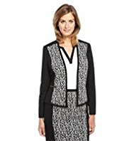 M&S Collection Twin Pockets Jacquard Jacket