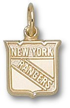 "New York Rangers Shield Logo 3/8"" Charm/Pendant"