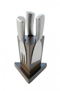 Swissmar Sbb8703 3-Piece Mini Cheese Knife Block Set