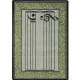 "Joy Carpets Kid Essentials Music & Special Needs Fully Staffed Rug, Sage, 7'8"" x 10'9"" - 1"