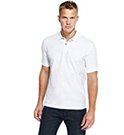 Blue Harbour Pure Cotton Piqué Polo Shirt with StayNEW™
