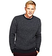 Blue Harbour Heritage Lambswool Blend Birdseye Knitted Jumper