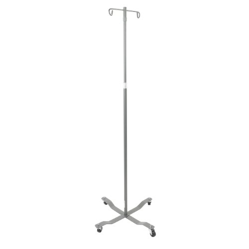 Drive Medical Economy Removable Top I. V. Pole, Silver Vein front-925732