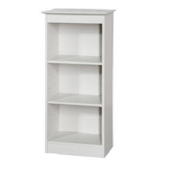 ... Crisp white finish Aspen Low Narrow 3 shelf Bookcase CENTURION PINE