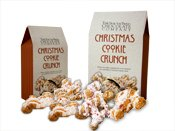 The South Bend Chocolate Company Christmas Cookie Crunch - 8 oz. - White Chocolate, Peppermint, Christmas cookie and Caramel Corn Sprinkled with Crushed Candy Cane
