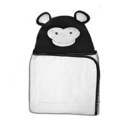 Plush Animal Hooded Towels Monkey - 1
