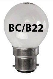 2x OPAL Golf Light Bulb 25w / BC Bayonet Cap WHITE PEARL SOFT LAMPS