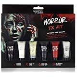 Splashes & Spills Halloween Horror FX Makeup Kit - 9 Piece Set Guidebook (Tamaño: Horror FX Makeup Kit)