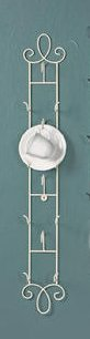 Augusta Vertical Antique White Cup & Saucer Wall Rack, Antique White (Cup Saucer Display compare prices)