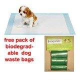 100 LARGE 60 x 60 CM PUPPY TRAINER TRAINING PADS TOILET WEE from UK TRADE