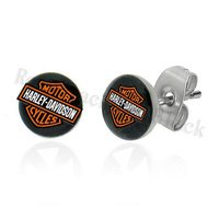 1 PAIR UNISEX 8mm STUD EARRINGS MOTORCYCLE HARLEY STYLE BIKER GIFT JEWELRY