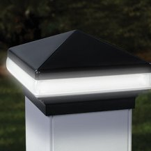 deckorator 4x4 led light band versacap post cap 12v black. Black Bedroom Furniture Sets. Home Design Ideas