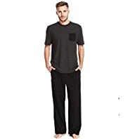Pure Cotton Contrast Pocket Pyjamas